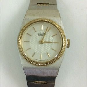 Seiko Watch Petite Silver Gold Adjustable Band